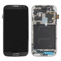 For Samsung Galaxy S4 SIV GT I9506 LCD Display Touch Screen Digitizer Panel Glass Frame Assembly Black