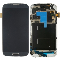 For Samsung Galaxy S4 SIV GT I9500 LCD Display Touch Screen Digitizer Panel Glass Frame Assembly Black
