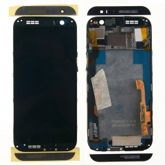 For HTC One M8 831C LCD Display Touch Screen Digitizer Panel Glass Frame Assembly Black