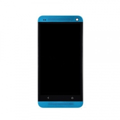 For HTC One M7 801E 801S LCD Display Touch Screen Digitizer Panel Glass Frame Assembly Blue