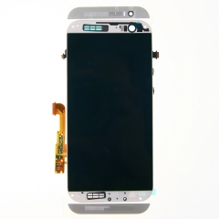 For HTC One M8 831C LCD Display Touch Screen Digitizer Panel Glass Frame Assembly Silver
