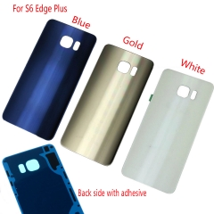 For Samsung Galaxy S6 Edge Plus G928A G928T G928P G928V G928F Back Rear Glass Housing Battery Door Cover With Adhesive