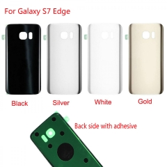 For Samsung Galaxy S7 Edge G935 G935A G935V G935F G935P G935T Back Rear Glass Housing Battery Door Cover With Adhesive