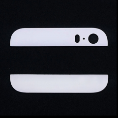 For iPhone 5S Black White Gold Back Cover Case Up & Down Edge Glass