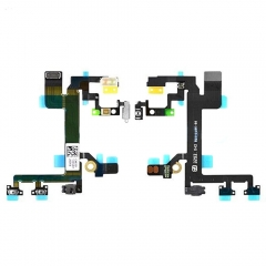 For iPhone 5S Flex Cable + Power On Off Switch Volume Button Mute Key