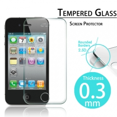 For iPhone 4 4S Tempered Glass Protective Screen Protector Film
