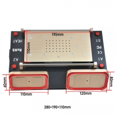 New 3 in 1 Vacuum LCD Screen Middle Bezel Frame Separator Machine Preheating Station Free Shipping