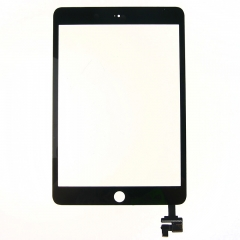 For iPad Mini 3 Screen Touch Digitizer Front Glass With Sticker And IC Chip