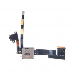 For iPad 2 Headphone Audio Jack Headset Flex Cable With Sim Card Slot