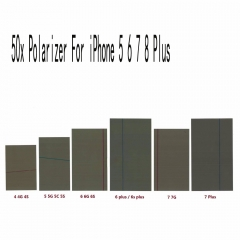50x For iPhone 4 5 5S 6 6S 7 8 Plus Polarizing Polarized Polarizer Diffusor Film
