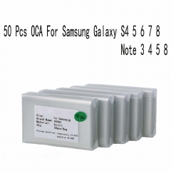 50x For Samsung Galaxy S4 5 6 7 Note 3 4 5 A3 5 7 250um Optical Clear Adhesive Glue OCA Film