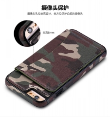 For Samsung Galaxy S7 Edge S8 Plus Army Camo Camouflage Soft TPU&PU Leather Phone Back Cover With Card Holders Shell