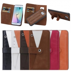 For Samsung Galaxy Note 3 4 5 8 S5 S6 S7 Edge S8 Plus Card Holder Skin Cover PU Flip Leather Case