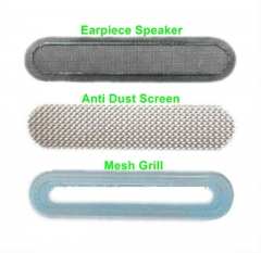 For iPhone 4 4G 5Pcs / Set 3 In 1 Earpiece Anti Dust Mesh