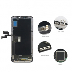 For iPhone X LCD Display + Screen Touch Digitizer + Frame Assembly
