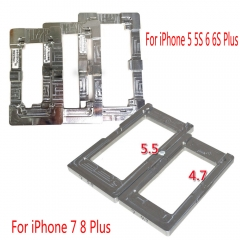 For iPhone 5 5S 5C SE 6 6S 7 8 Plus UV Glue LOCA LCD Glass Alignment Aluminum Mold