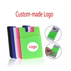 500x Custom-made Phone Stick On Wallet Credit Card Holder Adhesive