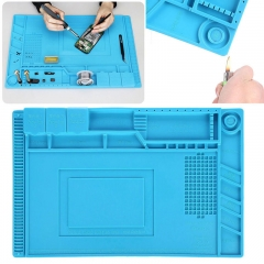 45 x 30CM Magnetic Heat Silicone Pad Desk Mat Soldering Repair For BGA