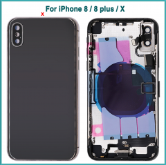 Full housing Case For iPhone SE 6S Plus X XR XS Max Battery Back Cover Rear Door + Chassis Middle Frame Side Buttons No Flex Cable